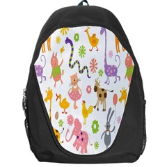 Kids Animal Giraffe Elephant Cows Horse Pigs Chicken Snake Cat Rabbits Duck Flower Floral Rainbow Backpack Bag by Jojostore