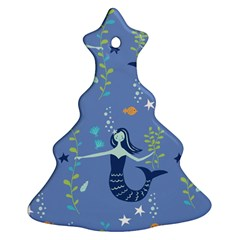 Little Mermaid Star Fish Sea Water Christmas Tree Ornament (two Sides) by Jojostore