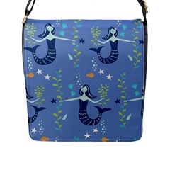 Little Mermaid Star Fish Sea Water Flap Messenger Bag (l)  by Jojostore