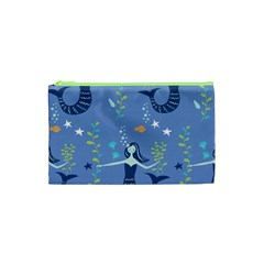 Little Mermaid Star Fish Sea Water Cosmetic Bag (xs) by Jojostore