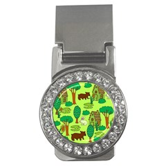 Kids House Rabbit Cow Tree Flower Green Money Clips (CZ)  by Jojostore