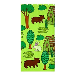 Kids House Rabbit Cow Tree Flower Green Shower Curtain 36  X 72  (stall)  by Jojostore