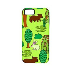Kids House Rabbit Cow Tree Flower Green Apple Iphone 5 Classic Hardshell Case (pc+silicone) by Jojostore