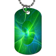 Line Green Light Dog Tag (two Sides) by Jojostore