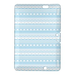 Love Heart Valentine Blue Star Woven Wave Fabric Chevron Kindle Fire Hdx 8 9  Hardshell Case by Jojostore