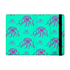 Jellyfish Pink Green Blue Tentacel Apple Ipad Mini Flip Case by Jojostore