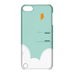 Minimalis Kite Clouds Orange Blue Sky Apple Ipod Touch 5 Hardshell Case With Stand by Jojostore