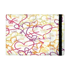 Love Heart Valentine Rainbow Color Purple Pink Yellow Green Apple Ipad Mini Flip Case by Jojostore