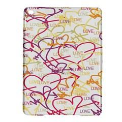 Love Heart Valentine Rainbow Color Purple Pink Yellow Green Ipad Air 2 Hardshell Cases by Jojostore