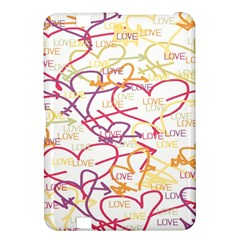 Love Heart Valentine Rainbow Color Purple Pink Yellow Green Kindle Fire Hd 8 9  by Jojostore