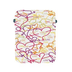 Love Heart Valentine Rainbow Color Purple Pink Yellow Green Apple Ipad 2/3/4 Protective Soft Cases