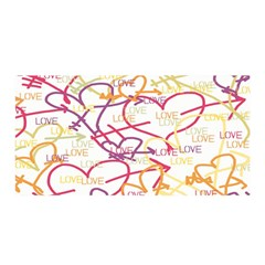 Love Heart Valentine Rainbow Color Purple Pink Yellow Green Satin Wrap by Jojostore
