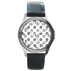 Month Moon Sun Star Round Metal Watch by Jojostore