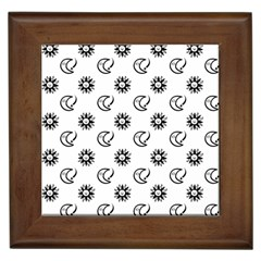 Month Moon Sun Star Framed Tiles by Jojostore
