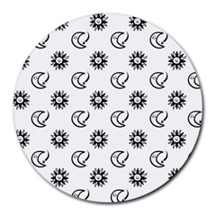 Month Moon Sun Star Round Mousepads by Jojostore