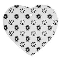 Month Moon Sun Star Ornament (heart) by Jojostore