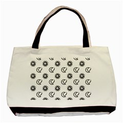 Month Moon Sun Star Basic Tote Bag by Jojostore