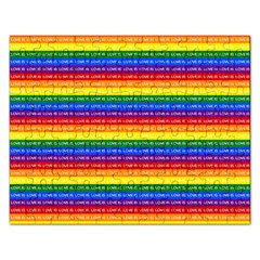 Love Valentine Rainbow Red Purple Blue Green Yellow Orange Rectangular Jigsaw Puzzl by Jojostore