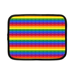 Love Valentine Rainbow Red Purple Blue Green Yellow Orange Netbook Case (small)  by Jojostore