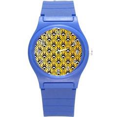Original Honey Bee Yellow Triangle Round Plastic Sport Watch (s) by Jojostore