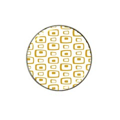 Plaid Gold Hat Clip Ball Marker (10 pack) by Jojostore