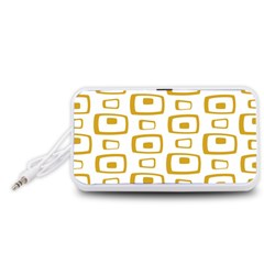 Plaid Gold Portable Speaker (white) by Jojostore