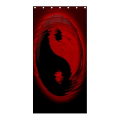 Red Black Taichi Stance Sign Shower Curtain 36  X 72  (stall)  by Jojostore