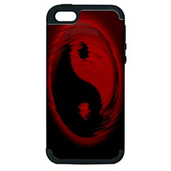 Red Black Taichi Stance Sign Apple Iphone 5 Hardshell Case (pc+silicone) by Jojostore