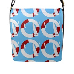 Sail Summer Buoy Boath Sea Water Flap Messenger Bag (l)  by Jojostore