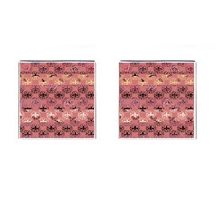Overlays Pink Flower Floral Cufflinks (square) by Jojostore