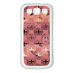 Overlays Pink Flower Floral Samsung Galaxy S3 Back Case (White)