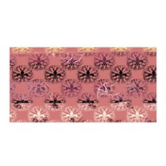 Overlays Pink Flower Floral Satin Wrap by Jojostore