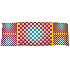 Rotational Plaid Purple Blue Yellow Body Pillow Case (dakimakura) by Jojostore