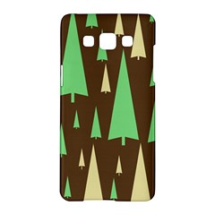 Spruce Tree Grey Green Brown Samsung Galaxy A5 Hardshell Case  by Jojostore