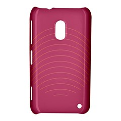 Tumblr Static Pink Wave Fingerprint Nokia Lumia 620 by Jojostore
