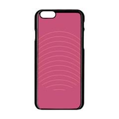 Tumblr Static Pink Wave Fingerprint Apple Iphone 6/6s Black Enamel Case by Jojostore