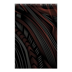 Trailer Drax Line Brown White Chevron Galaxy Space Shower Curtain 48  X 72  (small)  by Jojostore