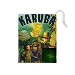 Karuba Box Art Green Tile Bag - Drawstring Pouch (Medium)