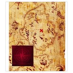 Karuba Red Tile Bag Treasure Map By David Gullett   Drawstring Pouch (medium)   Hc9cc6q42rcd   Www Artscow Com Front