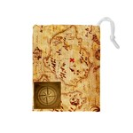 Karuba Yellow Tile Bag. Treasure Map. - Drawstring Pouch (Medium)