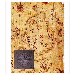 Karuba Black Tile Bag Treasure Map By David Gullett   Drawstring Pouch (medium)   4fr2beb80fbz   Www Artscow Com Back