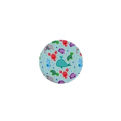 Turtle Crab Dolphin Whale Sea World Whale Water Blue Animals 1  Mini Magnets