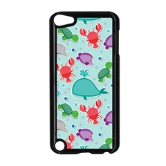 Turtle Crab Dolphin Whale Sea World Whale Water Blue Animals Apple Ipod Touch 5 Case (black) by Jojostore