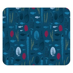 Sea World Fish Ccoral Blue Water Double Sided Flano Blanket (small)  by Jojostore