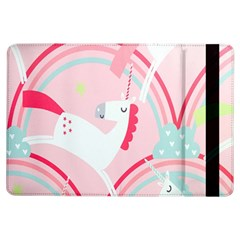 Unicorn Animals Horse Pink Rainbow Ipad Air Flip by Jojostore