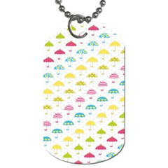 Umbrella Tellow Blue Red Pink Green Color Rain Kid Dog Tag (one Side) by Jojostore