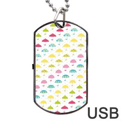 Umbrella Tellow Blue Red Pink Green Color Rain Kid Dog Tag Usb Flash (one Side) by Jojostore