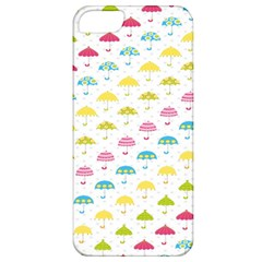 Umbrella Tellow Blue Red Pink Green Color Rain Kid Apple Iphone 5 Classic Hardshell Case by Jojostore