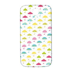 Umbrella Tellow Blue Red Pink Green Color Rain Kid Samsung Galaxy S4 I9500/i9505  Hardshell Back Case by Jojostore