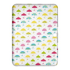 Umbrella Tellow Blue Red Pink Green Color Rain Kid Samsung Galaxy Tab 4 (10 1 ) Hardshell Case  by Jojostore